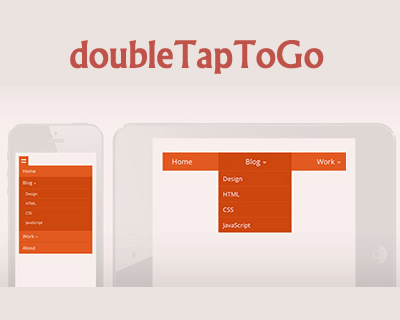 doubleTapToGo – Responsive and Touch-Friendly DropDown Navigation
