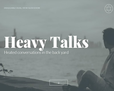 Draggable Dual-View Slideshow