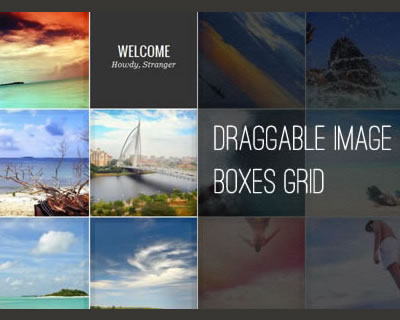 Draggable Image Boxes Grid with jQuery