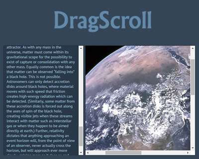 DragScroll – Javascript Library for Drag & Drop Scrolling