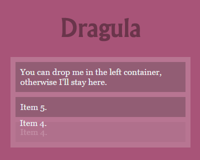 Dragula – Javascript Drag and Drop Library