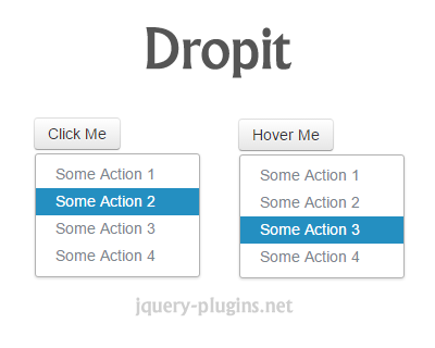 Dropit – jQuery Plugin for Single Level Dropdown Menu
