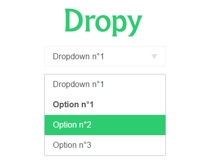 Dropy – Simple jQuery & SCSS Dropdown