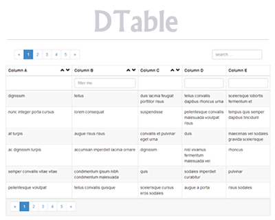 DTable – Data Table for jQuery