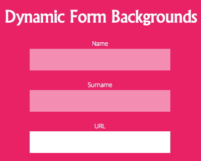 Dynamic Backgrounds Transitions on Forms