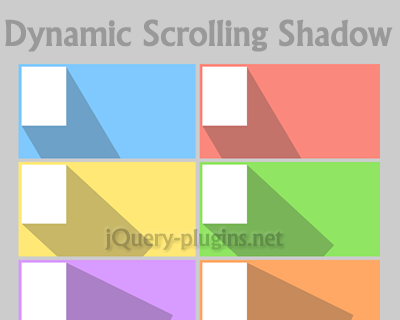 Dynamic Scrolling Shadow