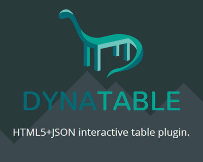 Dynatable – HTML5 and JSON Interactive Table Plugin