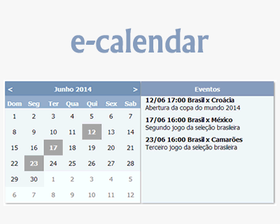 e-calendar – jQuery Plugin for Creating Event Calendar