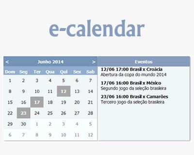 e-calendar – jQuery Plugin for Creating Event Calendar