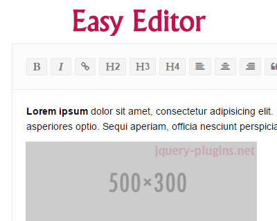 Easy Editor – Rich Text HTML / WYSIWYG Editor