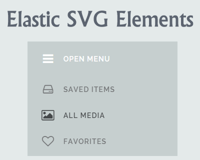 Elastic SVG Elements