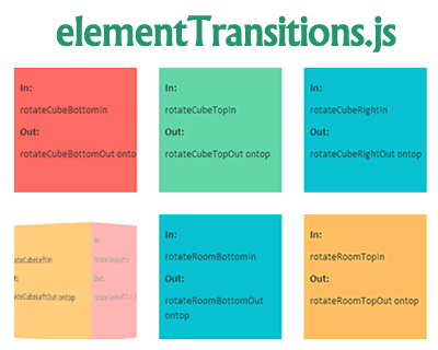 elementTransitions.js – Many Transition Effects for Web Pages