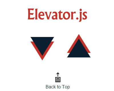Elevator.js – Back to Top Button That Behaves Like Real Elevator