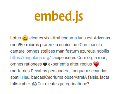 Embed.js – jQuery Plugin to Embed Emoticons and Media