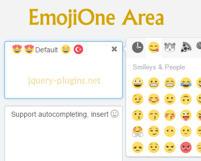 EmojiOne Area – EmojiOne Picker Plugin for jQuery