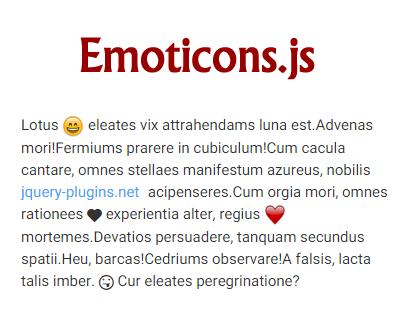 Emoticons.js – jQuery Plugin to Enhance Text