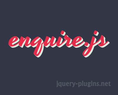 enquire.js – Awesome Media Queries in JavaScript