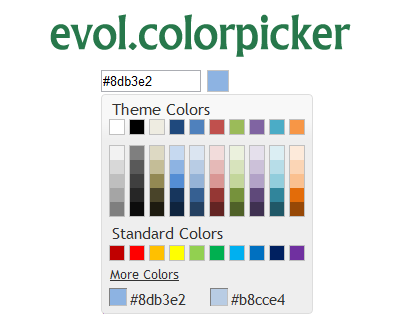 evol.colorpicker – jQuery UI Widget for Color Picking