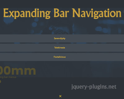 Expanding Bar Navigation Concept with Javascript