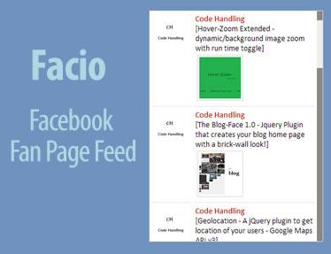 Facio – Facebook Fan Page Feed Widget with Likes