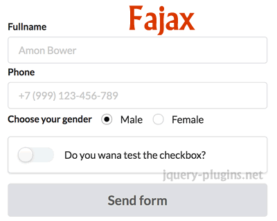 Fajax – Lightweight jQuery Plugin for Ajaxifying Forms