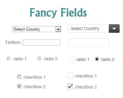 Fancy Fields – jQuery Plugin for Custom Form Elements