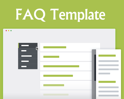 FAQ Template with CSS and jQuery
