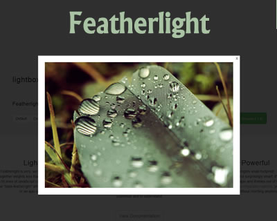 Featherlight – Ultra Slim jQuery Lightbox