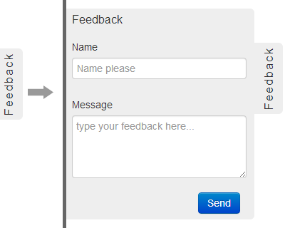 Feedback Me – jQuery Plugin for Sliding Feedback Form
