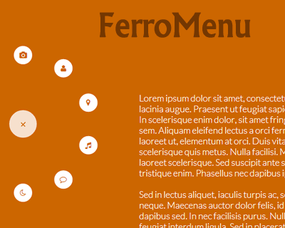 FerroMenu – Responsive and Interactive Bubble Menu Plugin