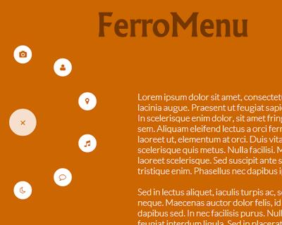 FerroMenu – Responsive and Interactive Bubble Menu Plugin
