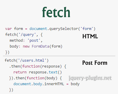 Fetch – window.fetch JavaScript Polyfill