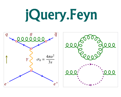 Feyn –  jQuery Plugin for Drawing Feynman Diagrams with SVG
