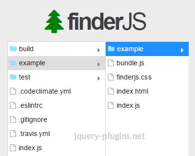 FinderJS – Browse Hierarchical Data in Columns