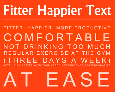 Fitter Happier Text – Performant, Fully Fluid Heading