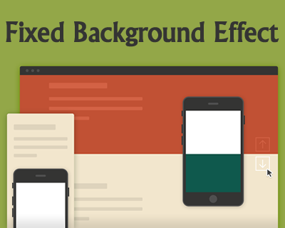 Fixed Background Effect with CSS and jQuery