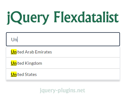 Flexdatalist – jQuery Autocomplete Plugin with Support for Datalist