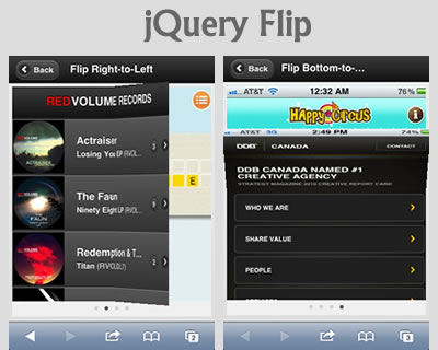 Flip – Flipboard Like Effect for jQuery & jQuery Mobile