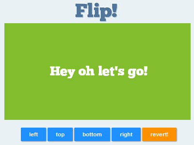 Flip! – jQuery Plugin to Apply Flip Animation