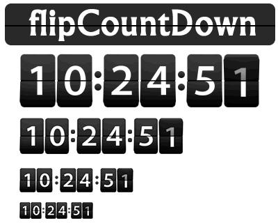 flipCountDown – jQuery Clock/Timer Plugin in Retro Flip Countdown Style