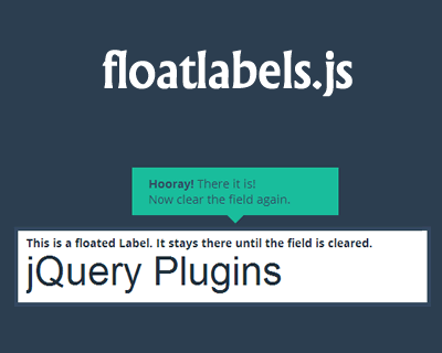 floatlabels.js – jQuery Plugin for Float Label Pattern