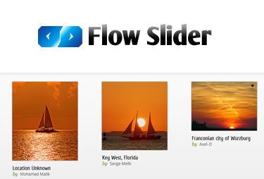 Flow Slider – jQuery Thumbnail Slider