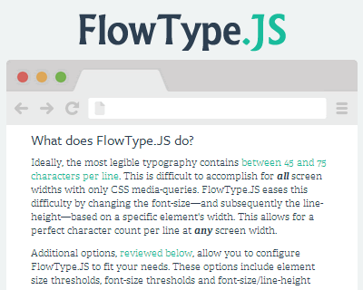 FlowType.JS – jQuery Plugin for Responsive Web Typography