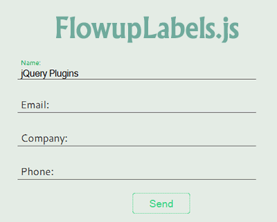 FlowupLabels.js – jQuery Plugin for Floating Label