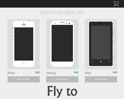 Fly to – Add to Cart Fly Effect with jQuery