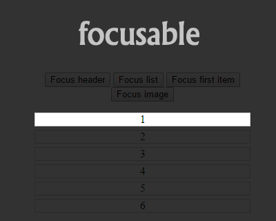 Focusable – Spotlight Focus on DOM Elements