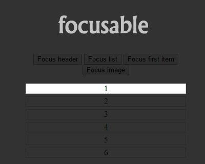 Focusable – Spotlight Focus on DOM Elements