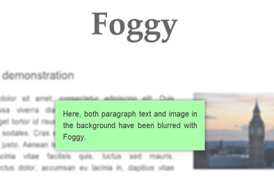 Foggy – jQuery Plugin for Blurring Page Elements