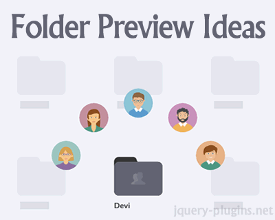 Folder Preview Ideas using CSS and Javascript