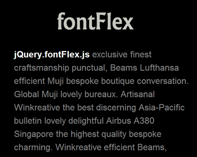 fontFlex –  jQuery Plugin for Responsive Font Sizes